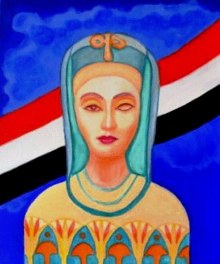 Sigrun Neumann (Sineu) - le printemps des femmes égyptiennes * Néfertiti-Tahrir * la belle est revenu ....