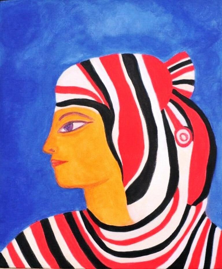 Sigrun Neumann (Sineu) - (le printemps des femmes égyptiennes)  * Néfertiti-Tahrir * Liberté ...
