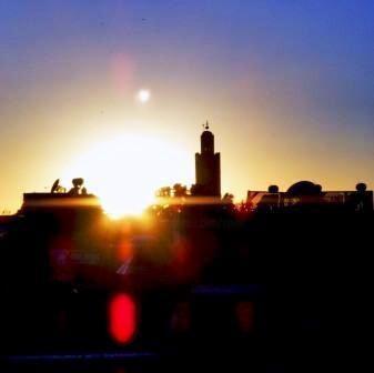 sur le toit du Marrakech